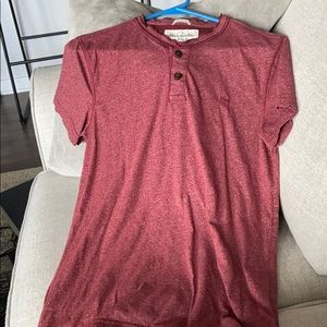 Abercrombie maroon soft muscle tee